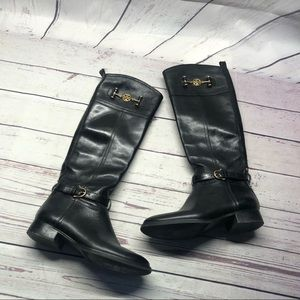 Tory Burch Nadine riding black boots